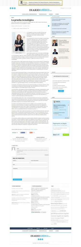 La prueba tecnológica   Diario Jurídico ENTERO
